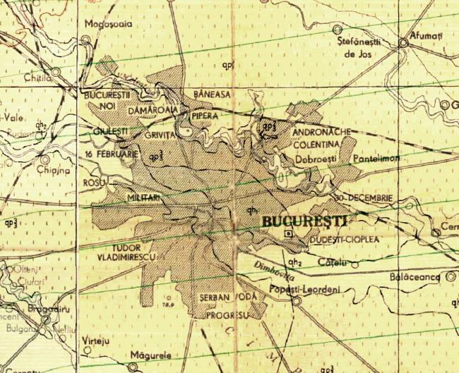 Harta București anii '50. Foto preluată de pe rezistenta.net