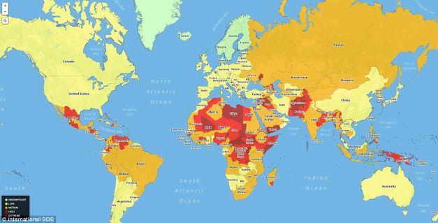 Topul Celor Mai Periculoase 15 ţări Pentru Turişti 238 N 2016