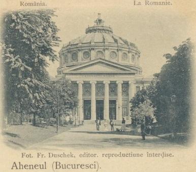 1899 Bucuresti - EROARE scrisul Ateneul - clasica - used 1899