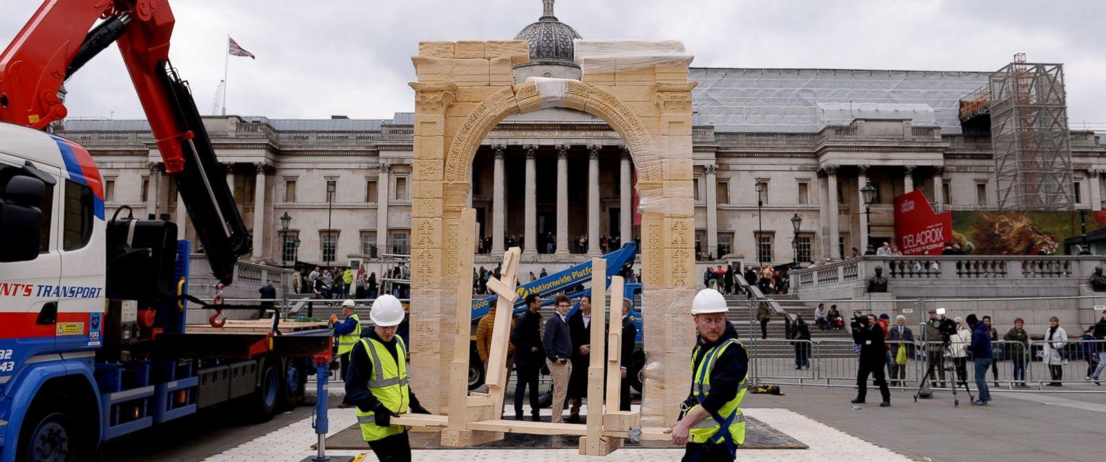 Arcul de triumf din Palmyra recreat în Londra