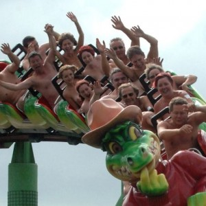 Adventure-Island-Naked-Roller-Coaster-World-Record-Attempt