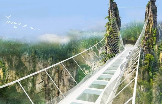Celebrul pod de sticlă din China s-a închis din cauza numărului mare de vizitatori
