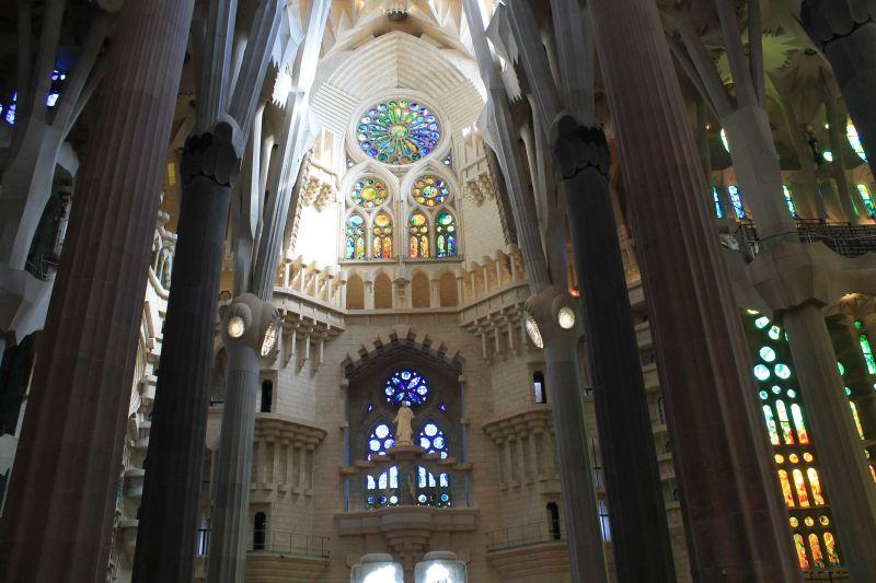 Biserica Sagrada Família, în construcție încă din anul 1882
