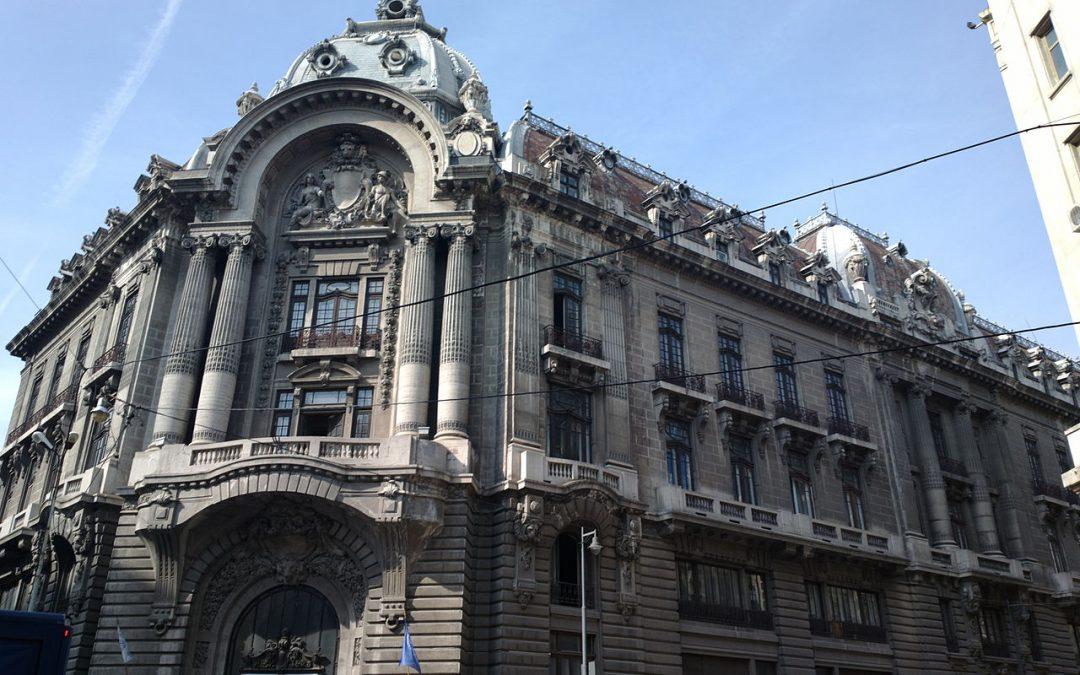 Palatul Bursei din Bucureşti, o clădire de patrimoniu de care nu se vorbește prea mult