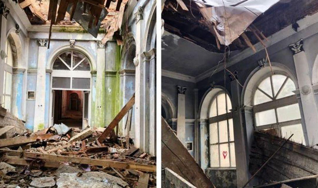 Patrimoniul în pericol: Acoperişul clădirii de patrimoniu care a găzduit Băile Imperiale Neptun s-a prăbuşit