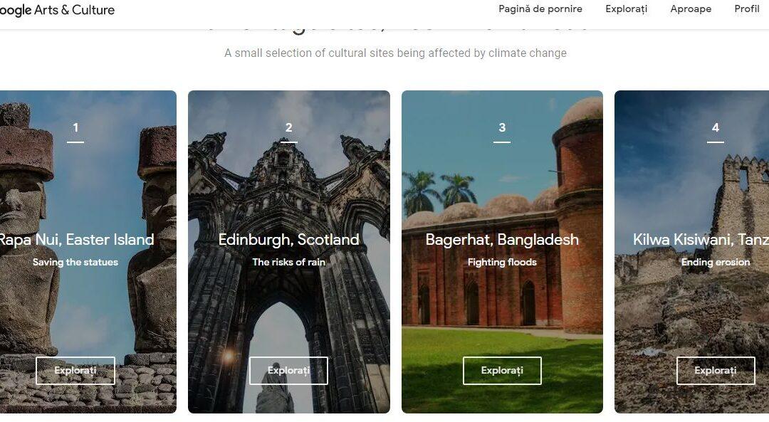 Google lansează un proiect pentru a proteja monumente din patrimoniul universal de schimbările climatice