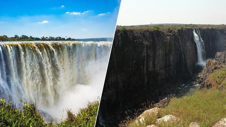 Cascada Victoria, cea mai cunoscută din Africa, aproape de dispariție