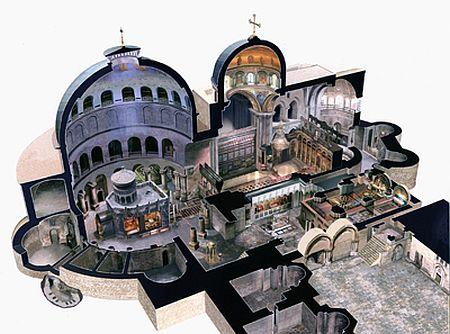 Sectiune in Biserica Sfantului Mormant