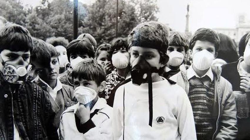 Giurgiu – uzina toxică pentru vecinii din Bulgaria FOTO