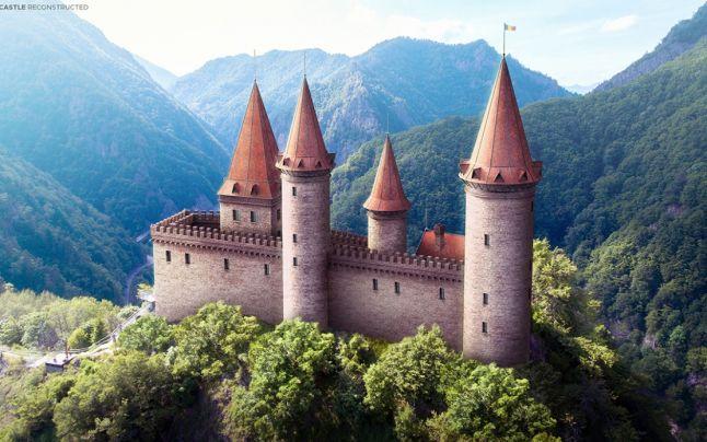 """Cetatea Poenari, reconstruită digital: """"Pare că e desprinsă dintr-o carte de poveşti"""""""