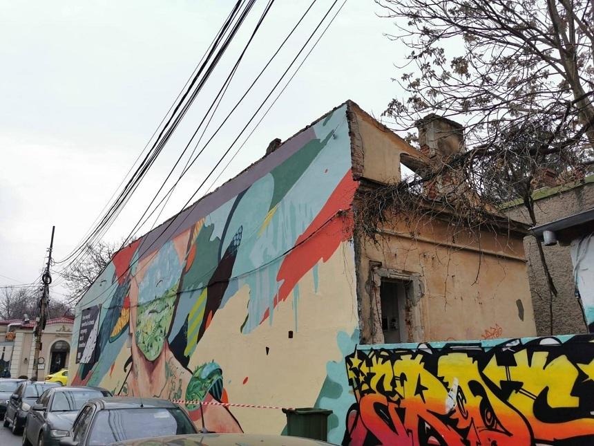 """Arta stradală din Bucureşti, lăsată fără un simbol. """"Casa cu grafitti"""" din Capitală va fi demolată până la finalul lunii"""