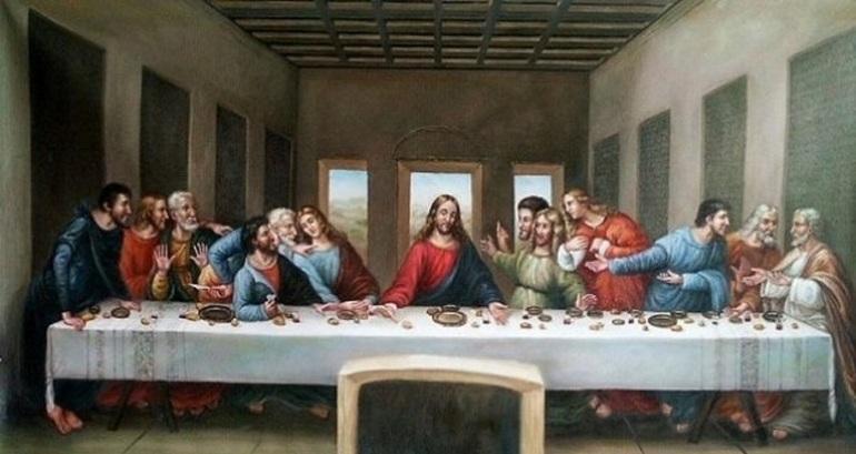 """Mesaje ascunse în faimoasa pictură """"Cina cea de taină"""". Iuda a vărsat sarea"""