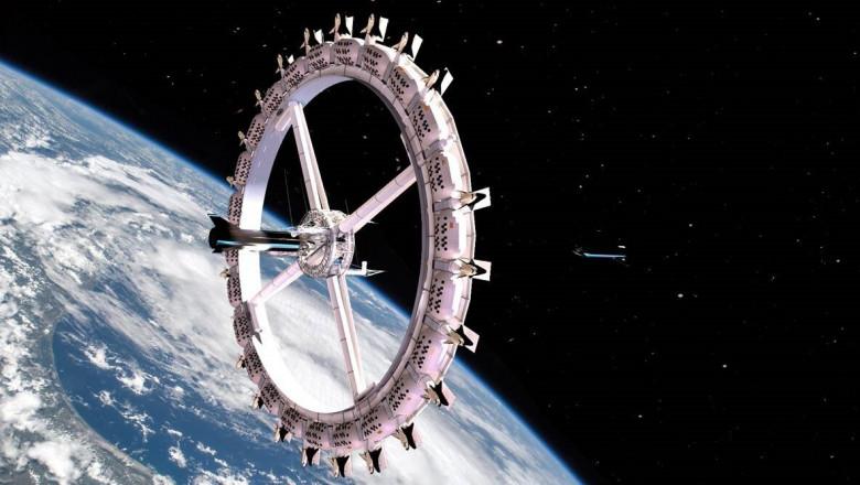 Primii turiști spațiali ar putea să stea la hotel în orbita Pământului în următorii 10 ani. Cum va arăta primul hotel spațial Voyager