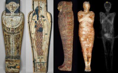 Singura mumie egipteană a unei femei însărcinate găsită până acum era ascunsă în sarcofagul unui preot